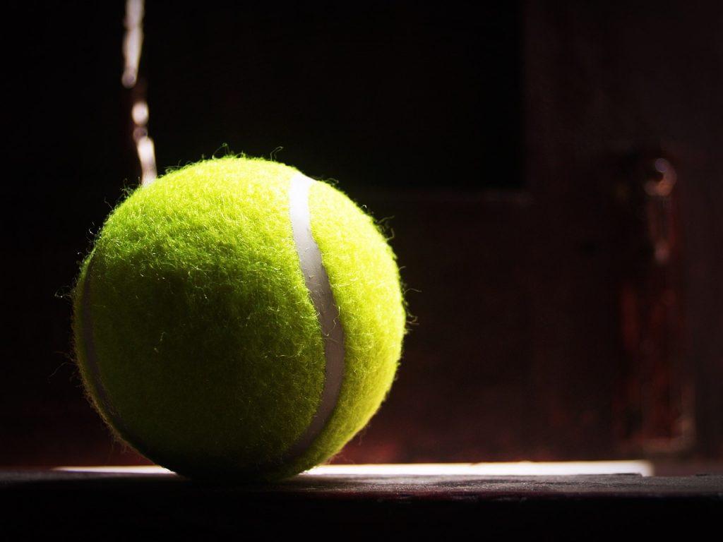 ball, racket, white